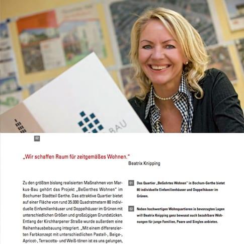 Werkschau über langjährige Zusammenarbeit mit Markus-Bau