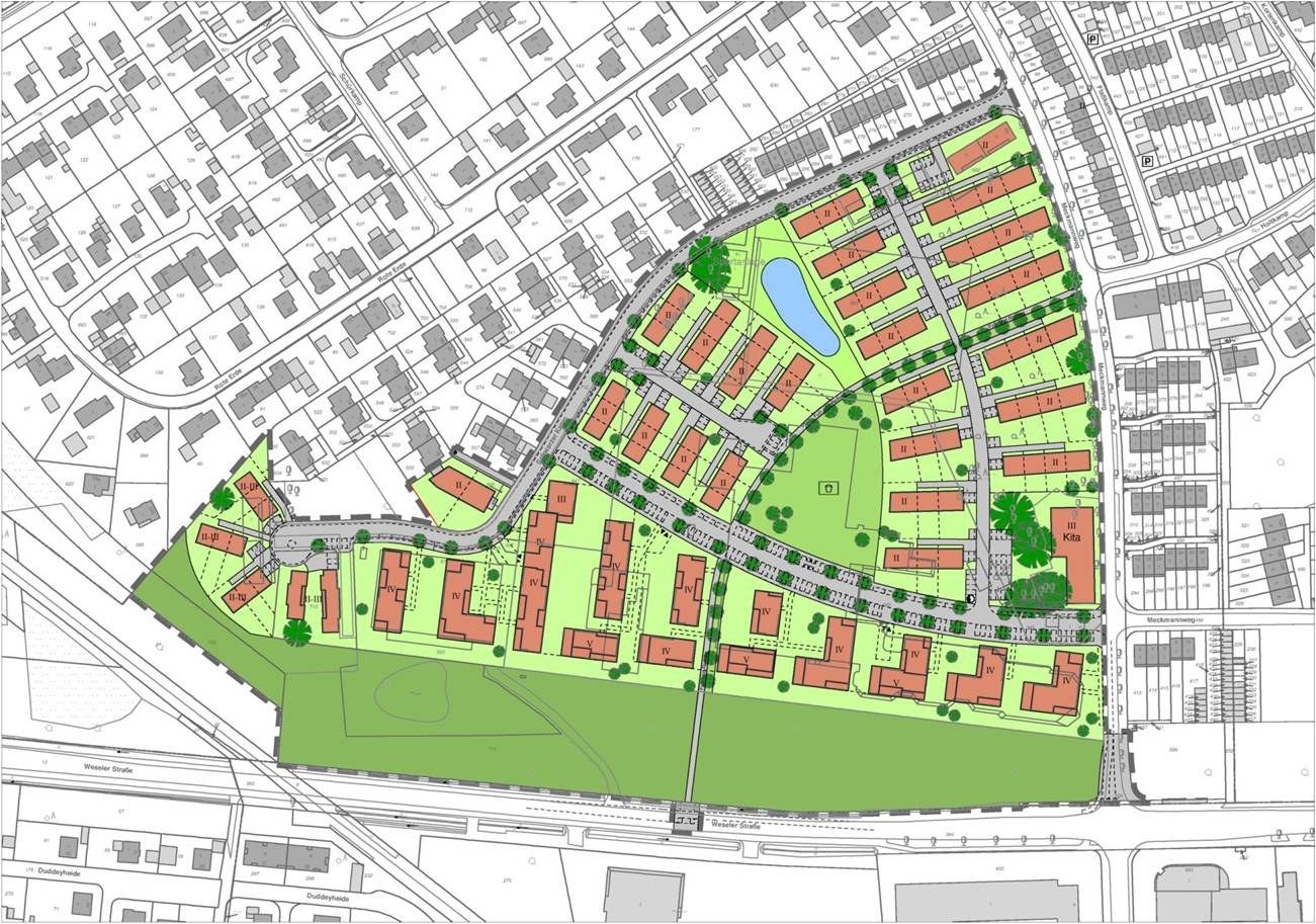 ratsbeschluss der bebauungsplan f r das ehemalige beresa gel nde in m nster ist ber die. Black Bedroom Furniture Sets. Home Design Ideas