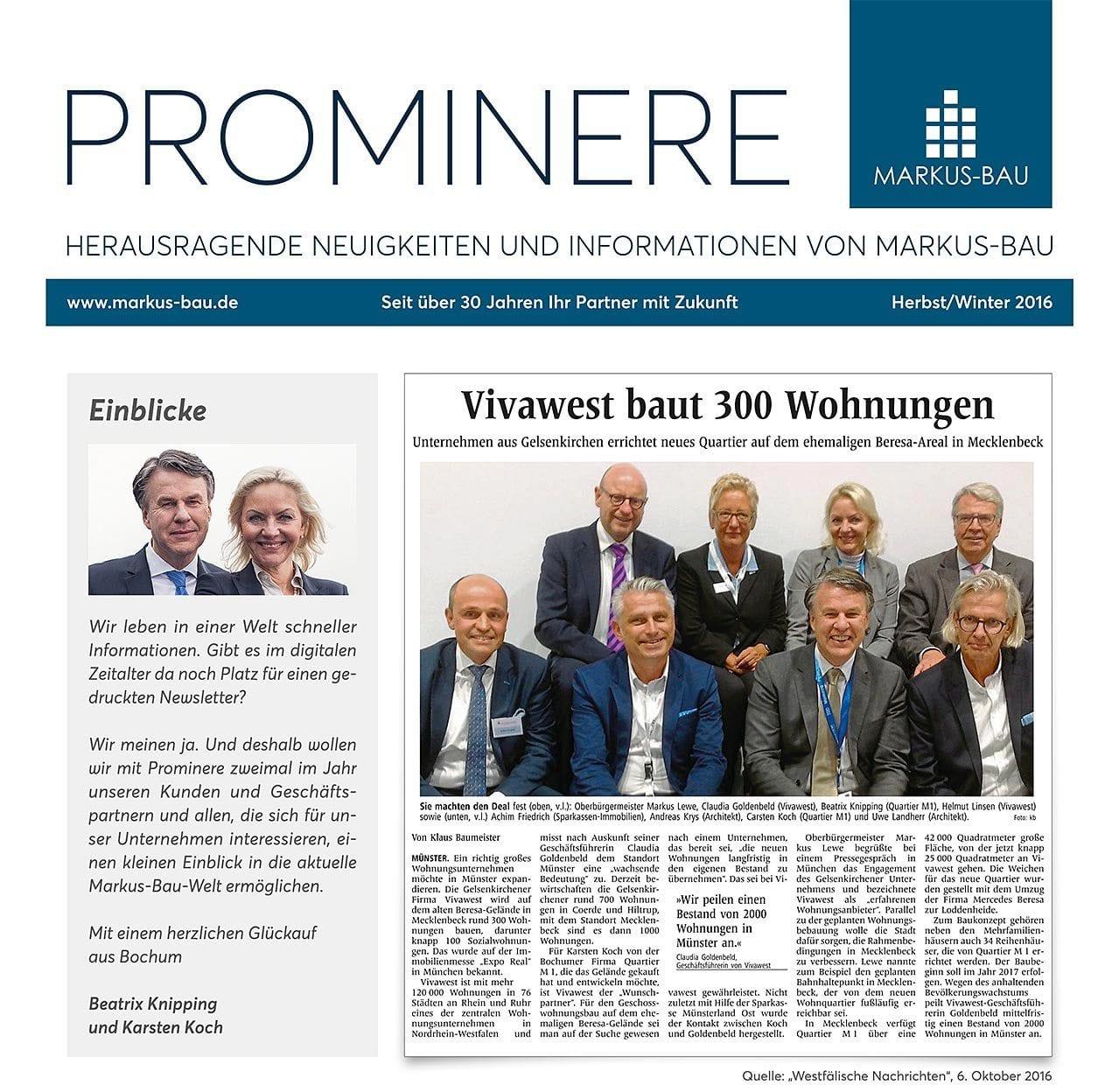 PROMINERE – Ausgabe Herbst/Winter 2016