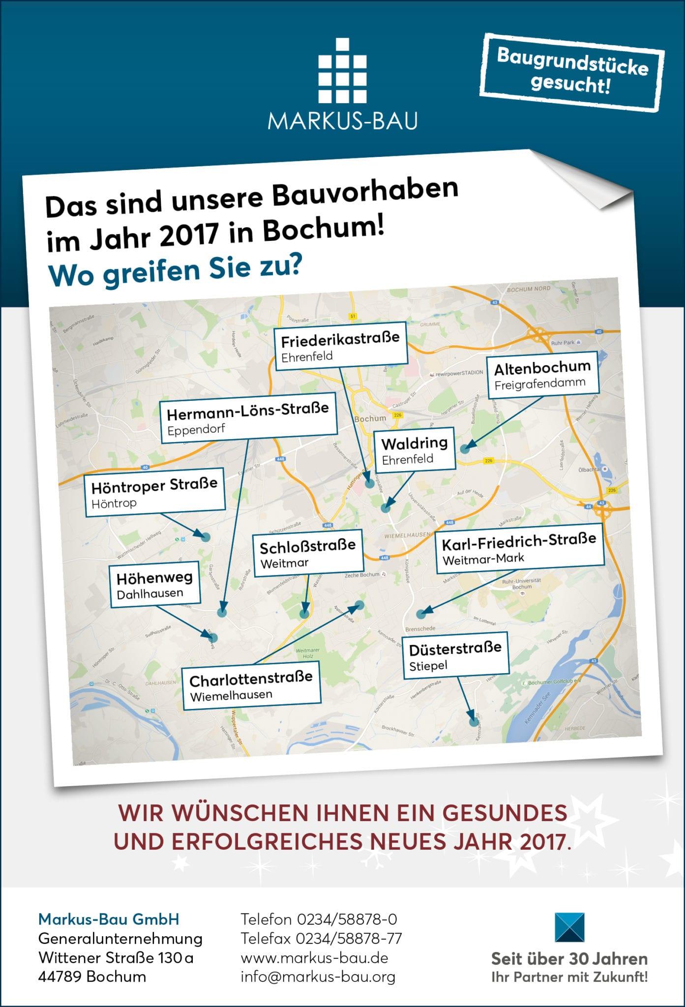Auch 2017 haben wir viel in Bochum vor